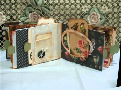 Mini Vintage Themed Envelope Scrapbook Album