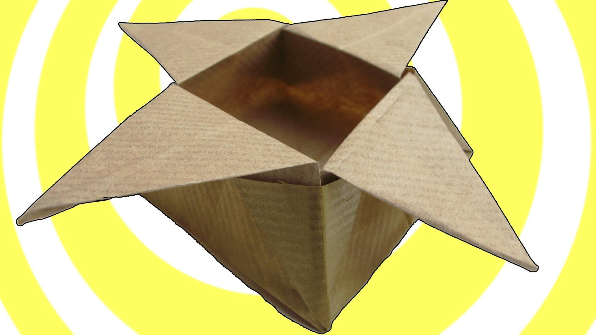 Origami Star Box (easy origami)