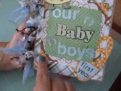 """Our Baby Boys First Year"" Paper Bag Scrapbook Album"