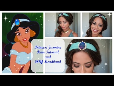Princess Jasmine Hair Tutorial and DIY Headband
