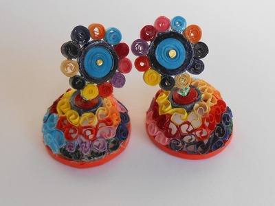 Quick & Easy Colorful Beehive Jhumka - Making Tutorial