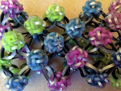 Rainbow Loom™ Button Cuff Charm Bracelet - Variation 1