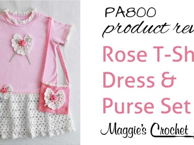 Rose T Shirt Dress and Purse Pattern Review PA800