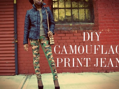 (RYC) 1: DIY Camouflage Print Jeans