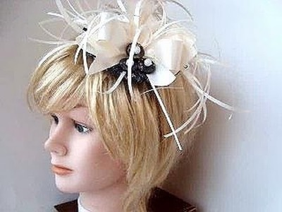 Saucer style Royal Wedding Fascinator Hat diy headpiece, bridal fascinator, headband,