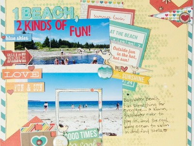 Scrapbooking Process: 1 Beach, 2 Kinds of Fun