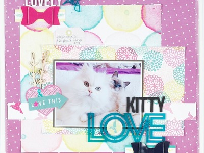 Scrapbooking Process Kitty Love 2015