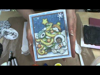 Sizzix Bigz Dies, Stampendous Stamps & Highlight Glitter by Scrapbooking Made Simple