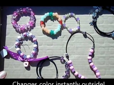 Solar Active® Color Change Bead Jewelry | UV beads Change Colors in the Sun! Demonstration