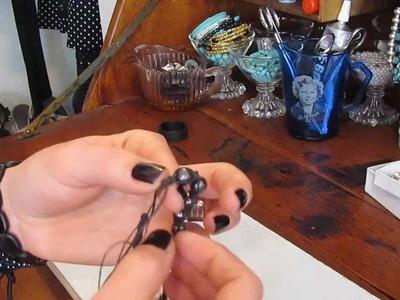 Square knot macrame bracelet - sliding knot closure - Diy - tutorial