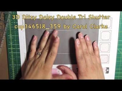 The craftsUprint Craft Show Episode 6, Tri Shutter Cards