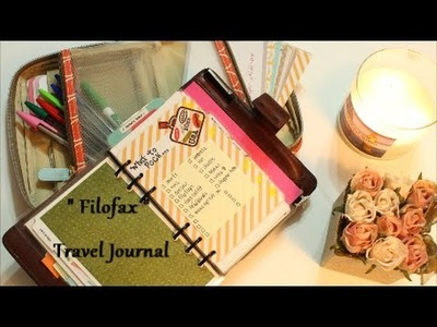 Travel Filofax Planner and Craft Supply Kit