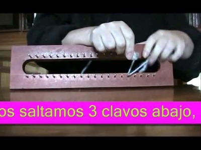 TUTORIAL DIFERENTES PUNTOS EN TELAR MAYA. different knitting stitches with loom
