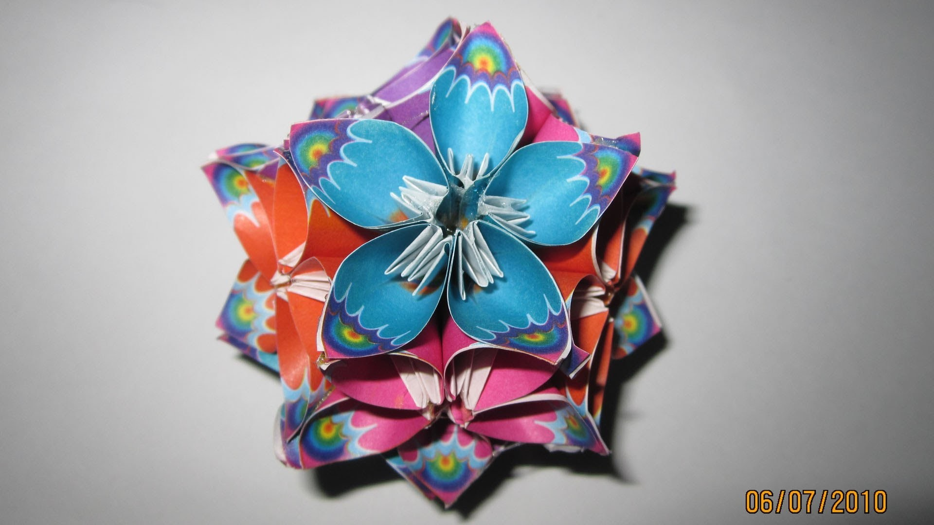 "TUTORIAL - How to make Kusudama Flower Ball ""Anniversary"""