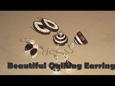 Art & Craft: How to make Colourful Design Quilling Earrings Quilling -Quilling Made Easy
