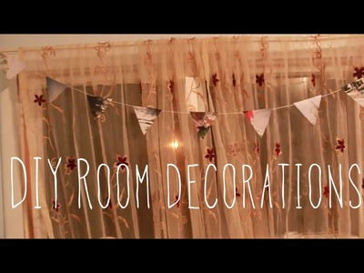(Bunting) Affordable.fun way to decorate your room!:DIY