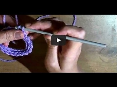 Connecting a long chain to make a circle - How to connect your chain to form a ring in Crochet