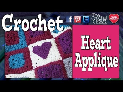 Crochet Heart Applique Tutorial