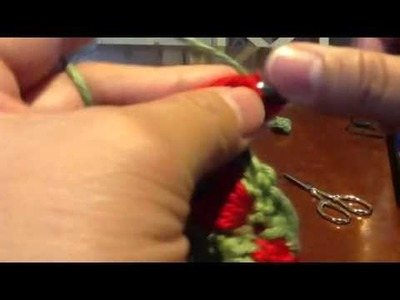 Crochet strawberry stitch-3 (redo)