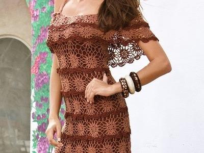 Crochet summer beach  dress for girl , woman made to order
