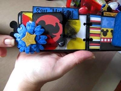 Disney Toilet Paper Roll Mini Scrapbook Album ~