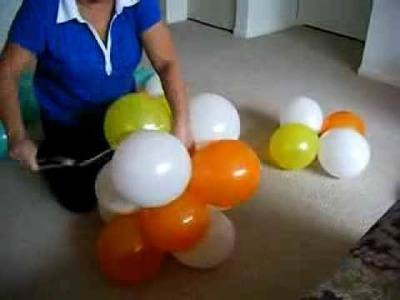 DIY: 3 Color Spiral Balloon Arch. Arco Espiral 3 Cores