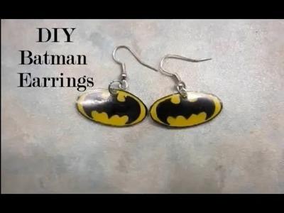 DIY Batman Earrings!