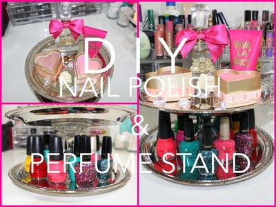 DIY: Cute Nail Polish and Perfume Stand for CHEAP - Cute Room Decor Ideas