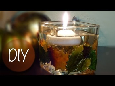 DIY Fall Candle Holder | Fall Home Decor