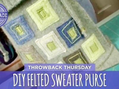 DIY Felted Sweater Purses - Throwback Thursday - HGTV Handmade