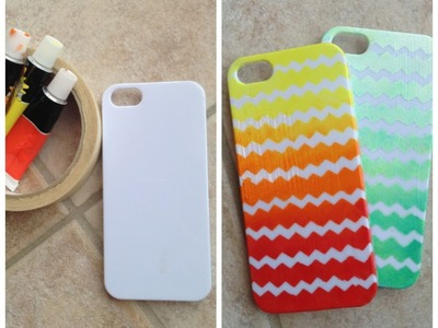 DIY Ombre Chevron Case