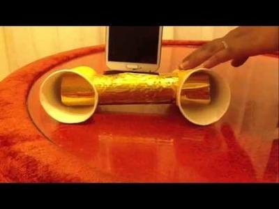 DIY Paper Cups & kitchen Towel Tube Speaker - Acoustic Radiator