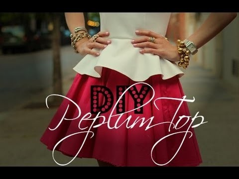 DIY Peplum Top + How to Read Sewing Patterns