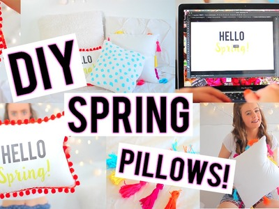 DIY Spring Pillows to Decorate Your Room! | Breezylynn08