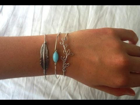 DIY Turquoise Bangle Wire Bracelets - Simple & Easy!