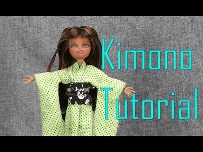 Doll Dressing - kimono tutorial