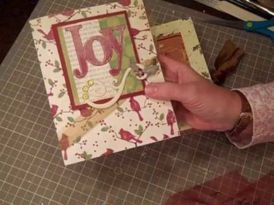 Easy Stationary card holder using one 12x12 paper DIY