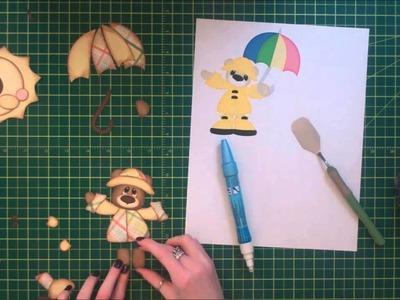 Faith Abigail Designs - Rainy Day Bear Scrapbook Layout Tutorial Part One