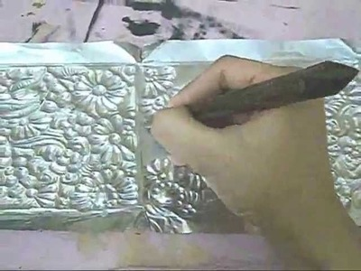 Foil work jwellery box part 2 embossing