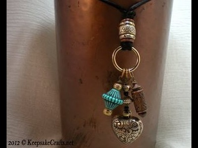 Funky Bead Dangle Necklace Tutorial