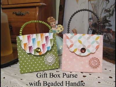 Gift Box Purse with Beaded Handle