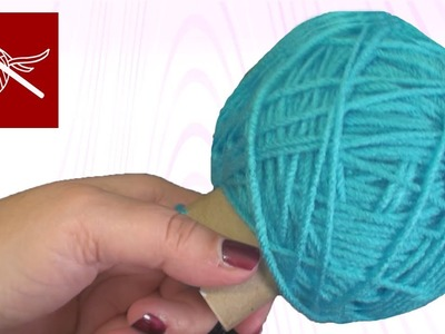 Hand Winding Yarn Crochet Stitch Tip