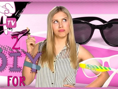 How to Decorate and Bling out Your Sunglasses (with St. Patrick's Day colors) - 2 DIY For Ep. 12