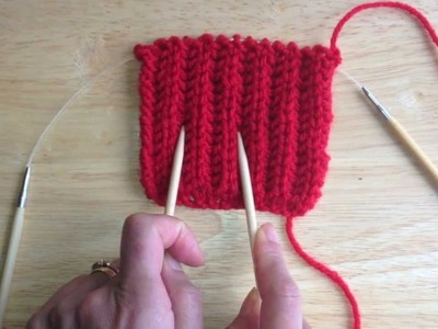 How To K1B (knit 1 below) In Brioche Rib Pattern