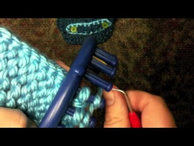 How to Loom Knit the Half Hitch HH (2X)