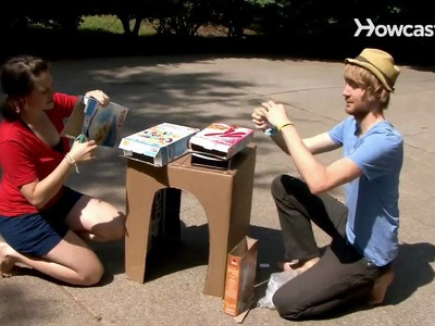 How to Make a Cardboard Desk