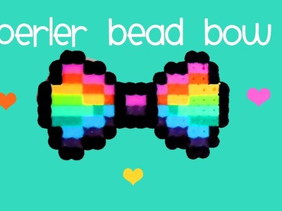 How to make a RAINBOW Perler Bead BOW ♥ ♥