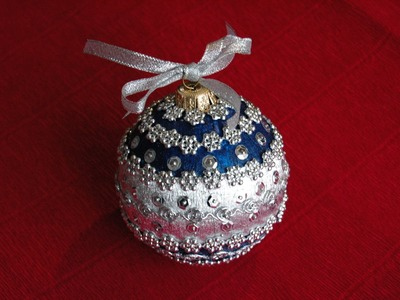 How to make Christmas ball ornament  DIY