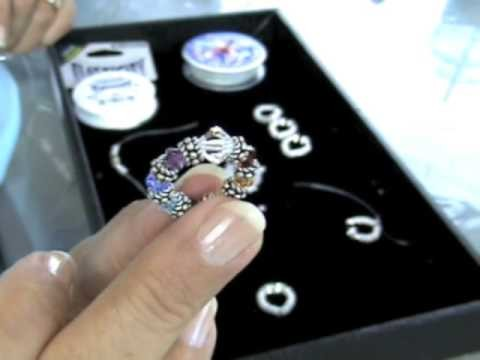 How to Make Jewelry: How to Make an Elastic Bali Bead and Crystal Ring