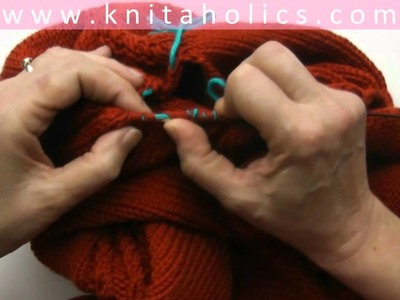 Knit with eliZZZa * Raglan Sweater Top Down * Video #05 * Knit Sleeves